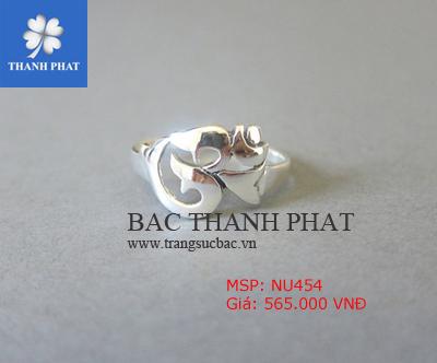 Nhẫn bạc nữ NU454 độc đáo, cực đẹp không thể bỏ qua