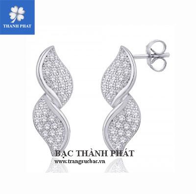 Bông tai nữ bằng bạc HT018