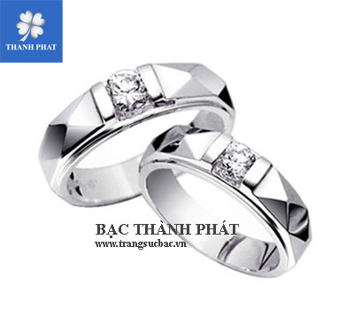 cặp nhẫn bạc kim cương nhân tạo