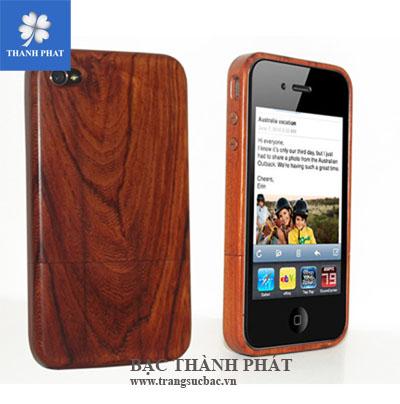 Điện thoại vỏ gỗ phím bạc MB054