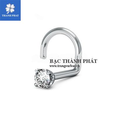 Khuyên xỏ mũi kim cương KD003