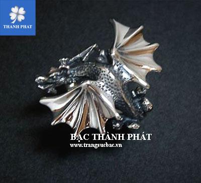 Nhẫn bạc nam hình rồng NA207.