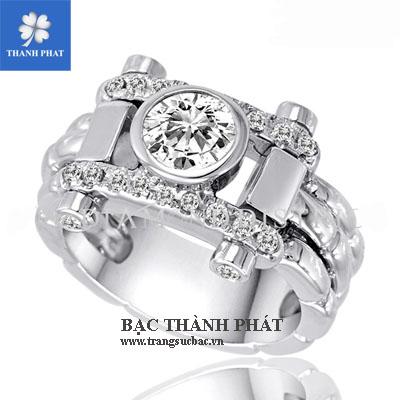 Nhẫn kim cương nam AD013.