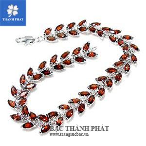 Lắc tay nữ bạc Hồ Chí Minh LU077