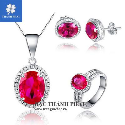Trang sức đá quý ruby STQ084